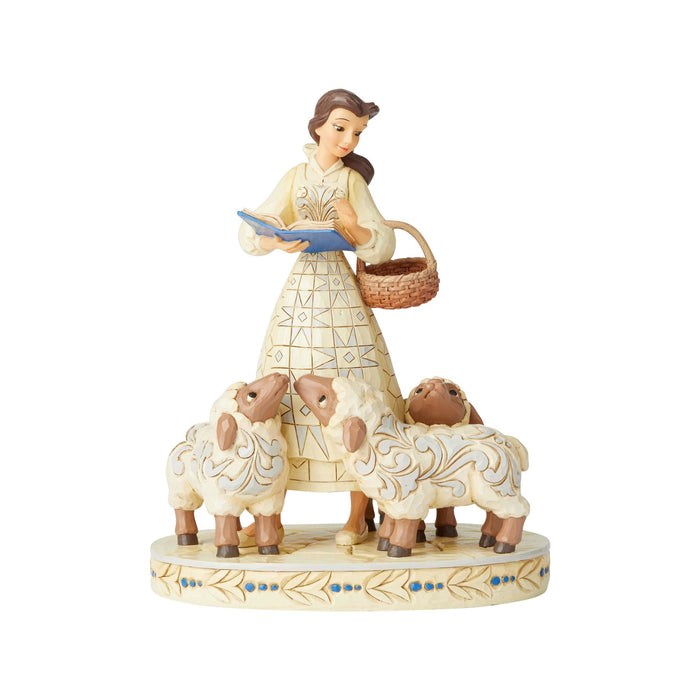 Disney Traditions Belle Sheep White Woodland Jim Shore Figurine New with Box