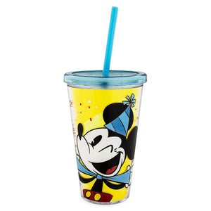 Disney Parks Mickey Mouse Celebrate Tumbler with Straw New