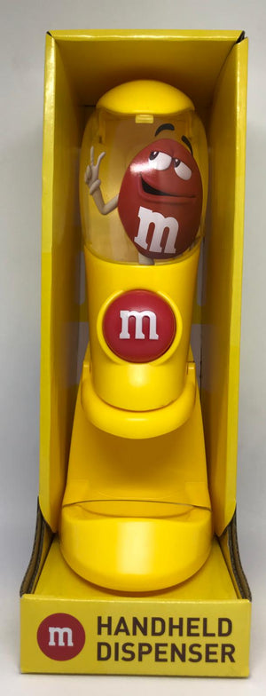 M&M's World Yellow Handheld Dispenser Candy Dispenser New with Box