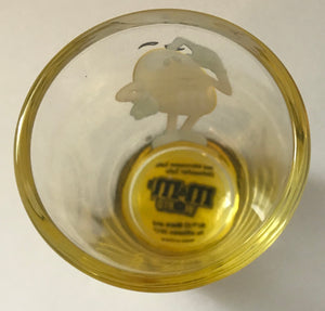 M&M's World Yellow Poses Clear Shot Glass New