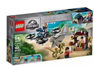 Lego 75934 Jurassic World Dilophosaurus on the Loose Plane Drone Toy Dinosaur