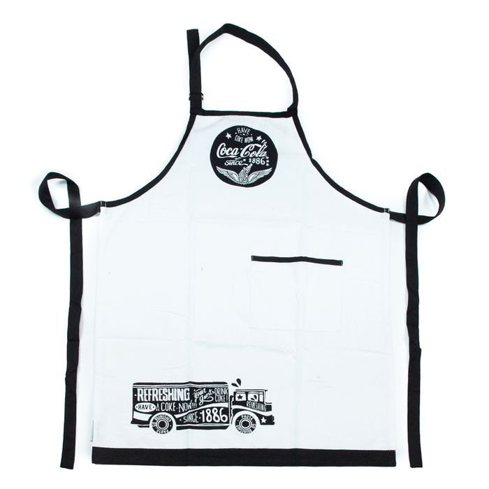 Authentic Coca-Cola Coke Chalk Talk Truck Apron New with Tags