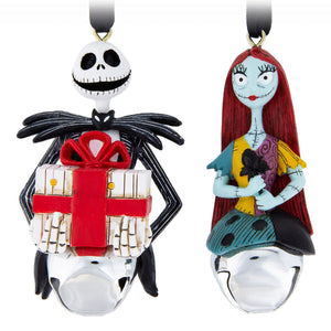 Disney Parks Jack and Sally Bell Ornament Set New with Tags
