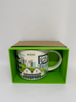 Starbucks You Are Here Collection Wuhu China Ceramic Coffee Mug New with Box