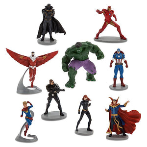 Disney Avengers Against Earth's Evildoers Deluxe Figurine Play Set New with Box
