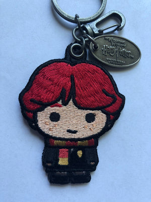 Universal Studios Wizarding World of Harry Potter Ron Weasley Patch Keychain New