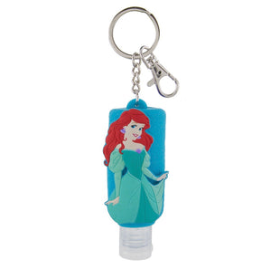 disney parks keychain keyring hand sanitizer princess ariel 1oz new with tags