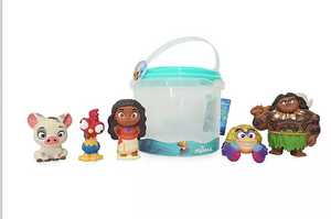 Disney Store Moana Bucket Bath Toy Set New with Tag