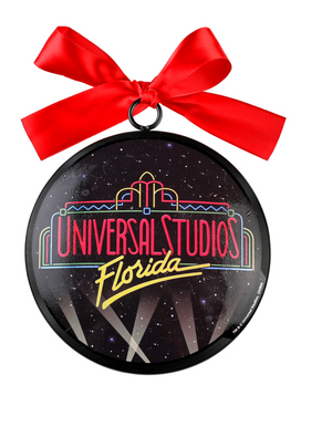 Universal Studios Florida Marquee Retro Ceramic Christmas Ornament New with Tag