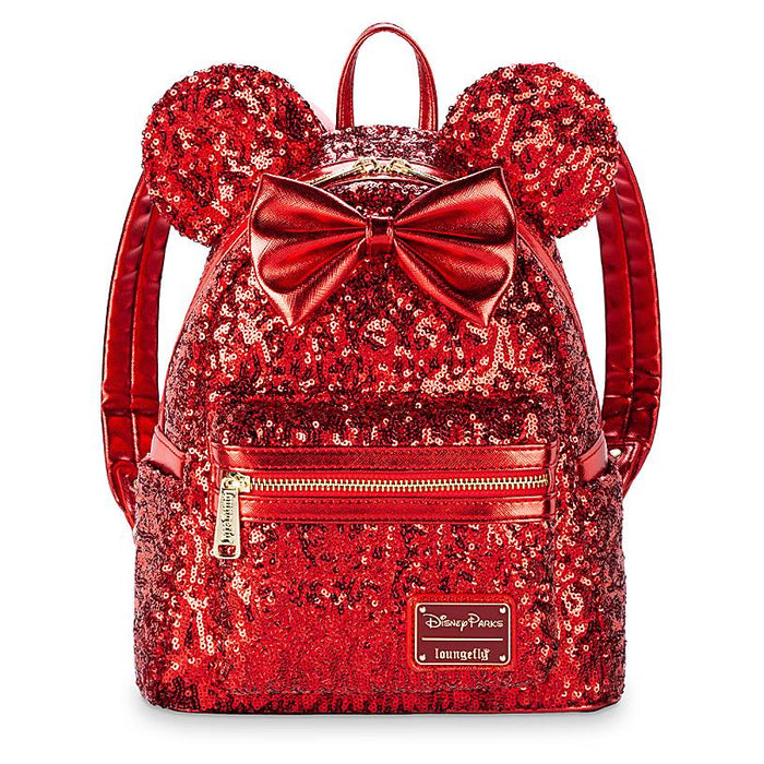 Disney Parks Minnie Mouse Red Sequined Mini Backpack New with Tags