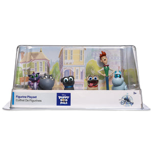 Disney Store Puppy Dog Pals Figure Play Set 6 Playset Cake Topper New with box