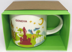 Starbucks You Are Here Collection Switzerland Geneva Ceramic Coffee Mug New Box