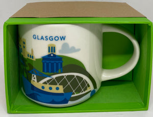 Starbucks You Are Here Collection Glasgow Scotland Coffee Mug New With Box