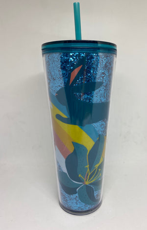 Starbucks Easter Spring 2021 Bunny Glitter Tumbler 24oz with Straw New