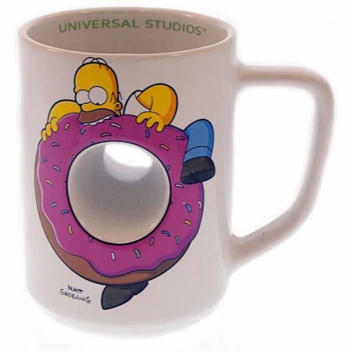 universal studios coffee cup mug the simpsons homer donut hole new