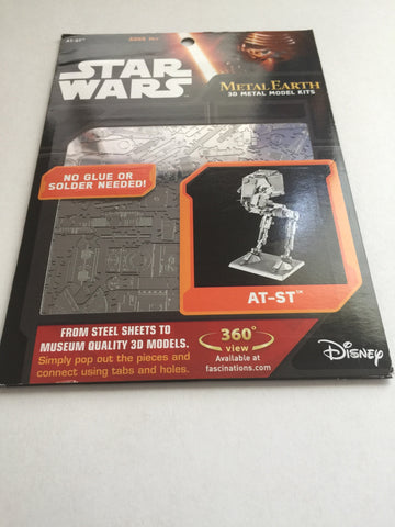 Disney Parks Star Wars AT-ST Metal Model Kit 3D New with Card