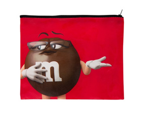M&M's World Brown Character Oh Honey I Simply Don't Care Recycled Pouch New