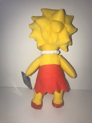 "Universal Studios The Simpsons Lisa Doll Plush 13"" New With Tag"