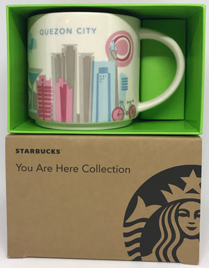 Starbucks Coffee You Are Here Quezon City Philippines Ceramic Coffee Mug New