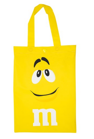 M&M's World Yellow Characters Poncho in Tote Bag One Size New with Tag