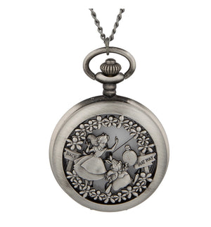 Disney Parks Alice in Wonderland Pocket Watch Necklace New with Tag