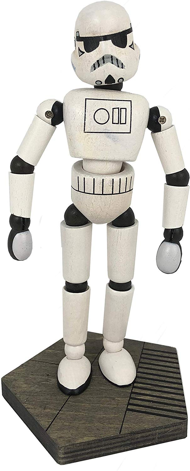 Disney Parks Star Wars Galaxy's Edge Wooden Stormtrooper Bendable Toy Figurine
