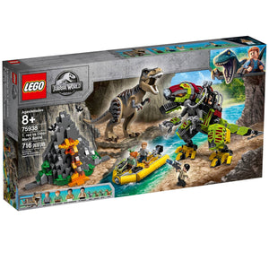 Lego 75938 Jurassic World T. rex vs Dino-Mech Battle Battle Toy T. Rex Figure