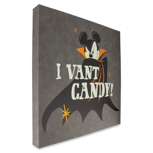 Disney Parks Mickey Mouse Halloween Vampire Wall Sign New