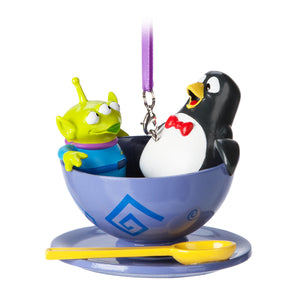 Disney Parks Pixar Toy Story Alien and Wheezy Spinning Teacup Ornament Green Man