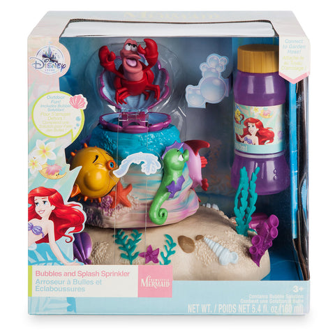 Disney Sebastian Bubbles and Splash Sprinkler Play Set The Little Mermaid New