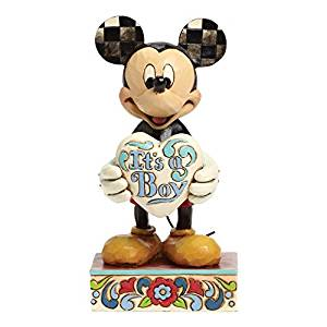 Disney Jim Shore Mickey It's a Boy Resin Figurine New with Box