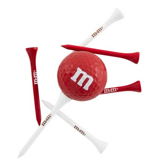 M&M's World Red Character 1 Playable Golf Ball & 6 Tees New with Box Sealed