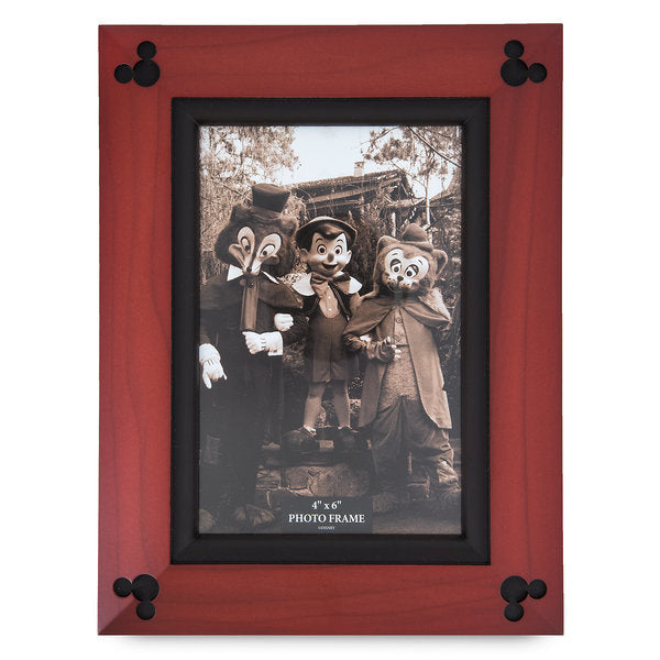 Disney Parks Mickey Mouse Icon Wood Photo Frame 4 x 6 New with Box