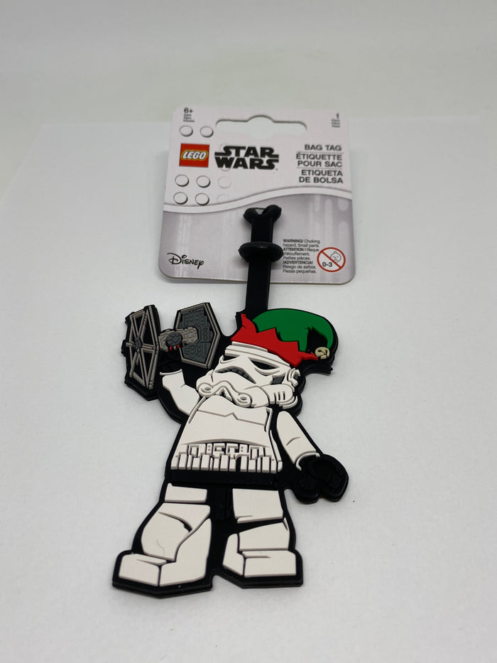 Lego Christmas Star Wars Elf Stormtrooper Silicone Luggage Bag Tag New with Tag
