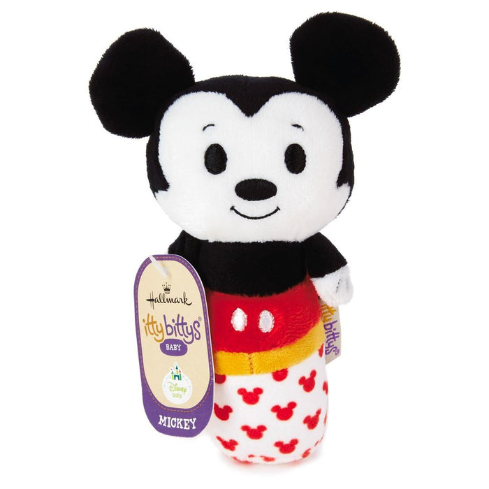 Hallmark Keepsake Itty Bittys Mickey Mouse Baby Rattle Plush New with Tags
