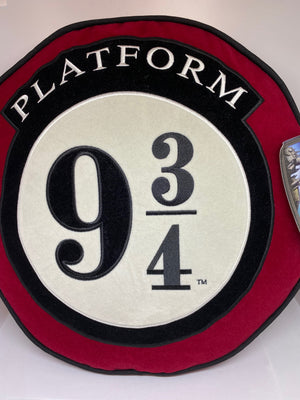Universal Studios Harry Potter Platform 9 3/4 Round Pillow New with Tag