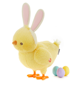 Hallmark Easter Hoppy Egg Laying Chick Singing Stuffed Animal With Motion 13""