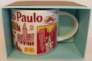 Starbucks Been There Series Collection Sao Paulo Brazil Ceramic Coffee Mug New