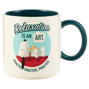 Hallmark Peanuts Snoopy Relaxation Is an Art Mug New with Tag