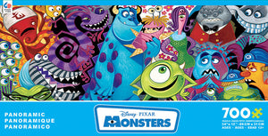 Disney Ceaco Panoramic Monsters 700 Pcs Puzzle New with Box