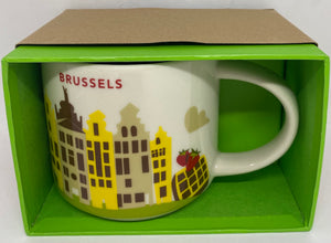 Starbucks Coffee You Are Here Brussels Belgium Ceramic Coffee Mug New