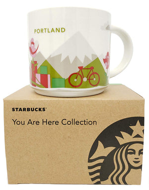 Starbucks You Are Here Portland Oregon Ceramic Coffee Mug New with Box