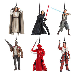 Disney Store The Last Jedi Limited Christmas Ornament Set New with Box