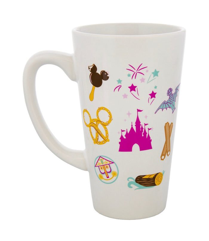 Disney Parks Food Icons Messaging Ceramic Coffee Mug New