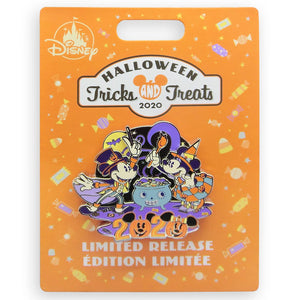 Disney Mickey Minnie Tricks and Treats Pin Halloween 2020 Limited New with Card