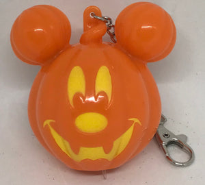Disney Mickey Pumpkin Jack-o'-Lantern Halloween Light Up Keychain New with Tag
