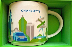 Starbucks You Are Here Charlotte North Carolina Ceramic Coffee Mug New with Box