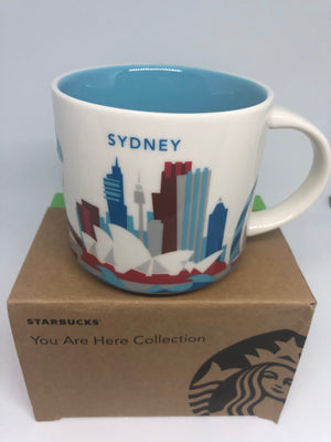 Starbucks You Are Here Collection Australia Sydney Ceramic Coffee Mug New Box
