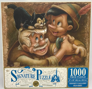 Disney Parks 80th Pinocchio Geppetto Figaro 1000 Pcs Puzzle New with Box