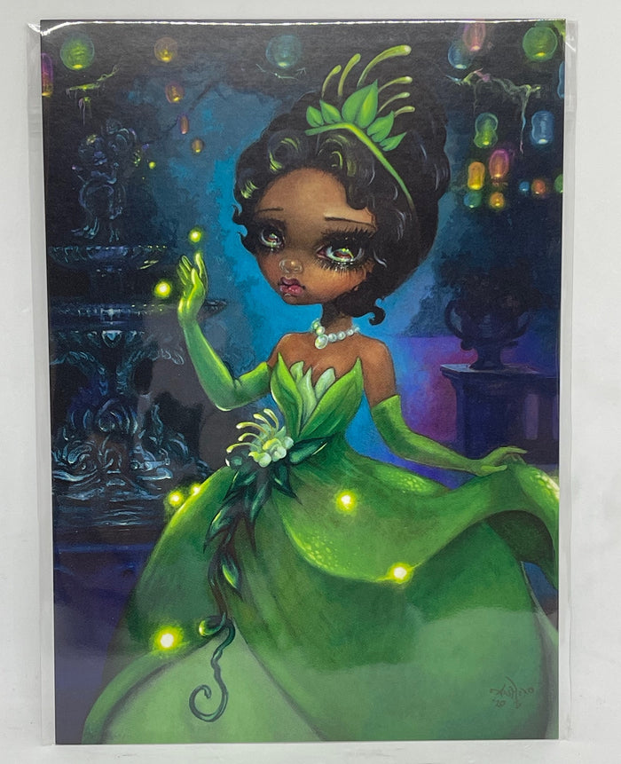 Disney Parks Tiana by Becket Griffith Postcard Wonderground Gallery New